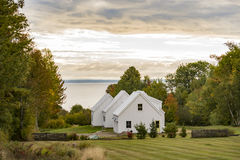 New England traditional house in the fall Stock Photography