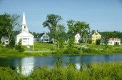 New England Village Stock Photos