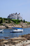 New England Waterfront House Stock Photography