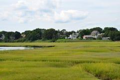 New England wetland landscape stock photos