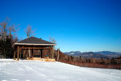 New England winter. Winter in New England, USA Stock Image