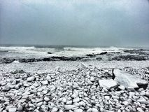 A New England Winter. The Backshore of Gloucester Royalty Free Stock Image