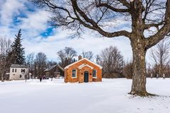 New England Winter - Gerrit Smith Estate National Historic Landm Stock Photos