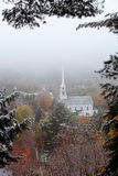 New England Winter Scene. In Vermont Stock Photography