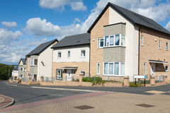 New English Houses. New Houses on a Typical English Residential Estate Royalty Free Stock Photo