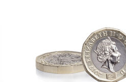 New english pound coin. The new pound coin released in March 2017, 12 sided shape and bimetallic. Designed to be difficult to create forgery Royalty Free Stock Photos