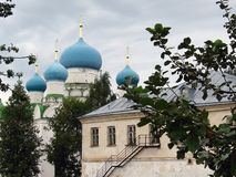 New Epiphany Cathedral, Epiphany Monastery, Uglich. New Epiphany Cathedral in Epiphany Monastery, Uglich city, Russia, in summer Stock Image