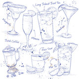 New Era Coctail Set  on a notebook page Royalty Free Stock Image