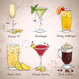 New Era Drinks Cocktail Set Royalty Free Stock Photography