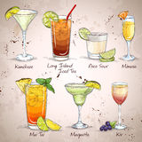 New Era Drinks Cocktail Set Stock Photo