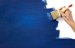 New era by paint. Painting blue color on white representing new era Royalty Free Stock Image