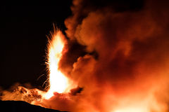New eruption of Etna - 2013 Stock Photos