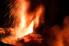 New eruption of Etna - 2013 Stock Images