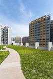 New Estate. A park leading to a green estate in Singapore Royalty Free Stock Photography