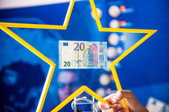 New 20 Euro banknotes bill currency money paper European Stock Photo
