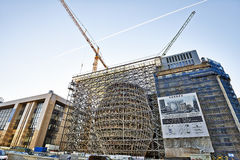 The new Europa building construction Royalty Free Stock Image