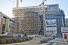 The new Europa building construction Royalty Free Stock Images