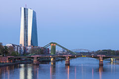 New European Central Bank (ECB) in Frankfurt Stock Images