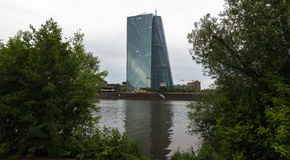 New european central bank in frankfurt germany Stock Image