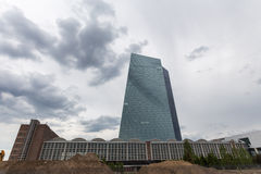 New european central bank in frankfurt germany Royalty Free Stock Images