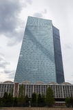 New european central bank in frankfurt germany Royalty Free Stock Photo