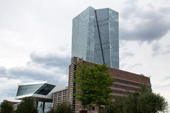 New european central bank in frankfurt germany Royalty Free Stock Image
