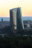 New european central bank in frankfurt germany in the evening Royalty Free Stock Photography