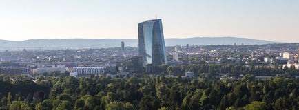 New european central bank in frankfurt germany in the evening Stock Images