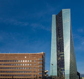 The new European Central Bank Headquarters in Frankfurt, Royalty Free Stock Images