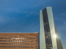 The new European Central Bank Headquarters, Frankfurt, Royalty Free Stock Photography