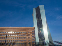 The new European Central Bank Headquarters in Frankfurt, Stock Photos