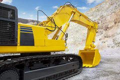 New excavator ready to work Stock Photo