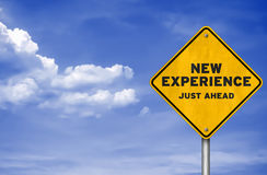 New experience. Road sign concept stock illustration