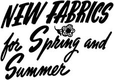 New Fabrics For Spring And Summer Stock Photography