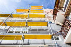 New facade on new house Royalty Free Stock Photography