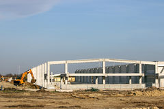 New factory construction site Royalty Free Stock Image