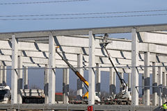 New factory construction site Stock Images