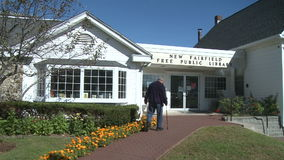 New Fairfield Free Public Library (2 of 6) stock footage