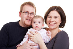 New family with baby Stock Images