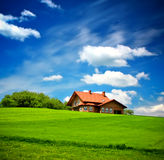 New Family Home. And cloudy sky Stock Image