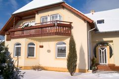 New family house. In winter Stock Photo