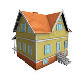 New family house. 3d illustration. Royalty Free Stock Photography