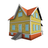New family house. 3d illustration. Royalty Free Stock Photos