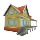 New family house. 3d illustration. Stock Image