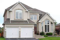 New family house. With a double garage Royalty Free Stock Photo