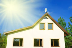 New family house. Against blue sky Royalty Free Stock Photography