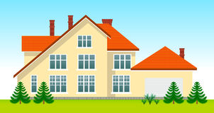 New family house in the day Royalty Free Stock Images