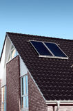 New family house with solar cell Royalty Free Stock Photo