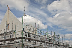 New family houses under construction Royalty Free Stock Images