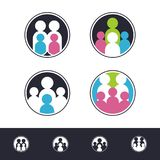 New Family Logo Set with circle design royalty free stock photography